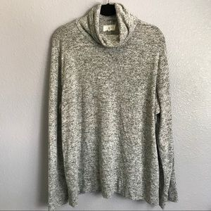 Lou & Grey Marled Turtleneck Pullover Sweater Top